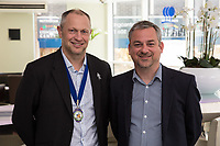 NCBC Club President Mark Deakin with guest speaker David Williams, MD of Butt Foods