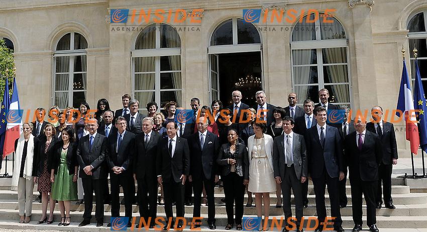 La squadra di  Governo.Parigi 04/07/2012 Consiglio dei Ministri Francese.Foto Insidefoto /Christian Liewig / Panoramic.ITALY ONLY.
