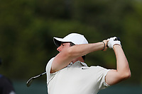 Rory McIlroy (NIR) hits his second shot out of the fairway on the 15th hole during the second round of the 118th U.S. Open Championship at Shinnecock Hills Golf Club in Southampton, NY, USA. 15th June 2018.<br /> Picture: Golffile | Brian Spurlock<br /> <br /> <br /> All photo usage must carry mandatory copyright credit (&copy; Golffile | Brian Spurlock)