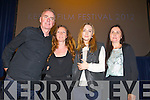 Dave Fanning, Sarah Smyth, Saoirse Ronan who won the Maureen O'Hara award and Roisin McGuigan at Kerry Film Festival awards at Saint Johns Church Ashe Street on Saturday.