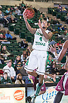 North Texas Mean Green guard P.J. Hardwick (4) in action during the game between the Arkansas Little Rock Trojans and the North Texas Mean Green at the Super Pit arena in Denton, Texas. UALR defeats UNT 62 to 57...