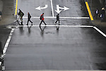 Rain soaked crosswalk, Ketchikan, Alaska
