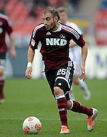 FUSSBALL   1. BUNDESLIGA  SAISON 2012/2013   8. Spieltag 1. FC Nuernberg - FC Augsburg       21.10.2012 Javier Pinola  (1 FC Nuernberg)