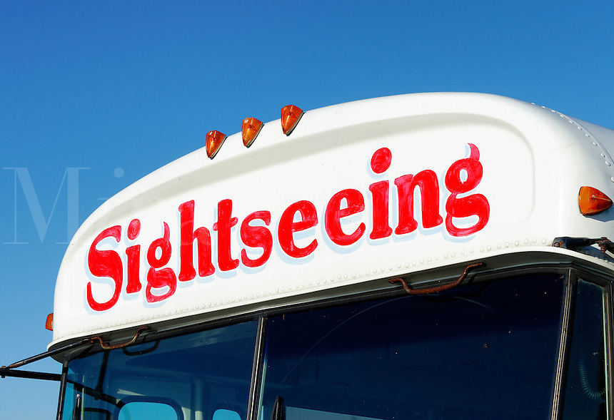 Sightseeing bus.