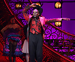 "Sahr Nguajah during the Broadway Opening Night performance Curtain Call bows for ""Moulin Rouge! The Musical"" at the Al Hirschfeld Theatre on July 25, 2019 in New York City."
