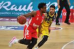 Retin OBASOHAN (BA),<br /> Aktion,Zweikampf gegen<br /> Tyler LARSON (OL).<br /> <br /> Basketball 1.Bundesliga,BBL, nph0001-Finalturnier 2020.<br /> Viertelfinale am 18.06.2020.<br /> <br /> BROSE BAMBERG-EWE BASKETS OLDENBURG,<br /> Audi Dome<br /> <br /> Foto:Frank Hoermann / SVEN SIMON / /Pool/nordphoto<br /> <br /> National and international News-Agencies OUT - Editorial Use ONLY