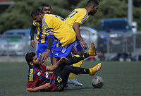 Action from the 2018 Fiji Football Association tournament semifinals in Wellington, New Zealand on Sunday, 14 October 2018. Photo: Dave Lintott / lintottphoto.co.nz
