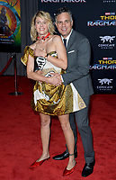 Mark Ruffalo &amp; Sunrise Coigney at the premiere for &quot;Thor: Ragnarok&quot; at the El Capitan Theatre, Los Angeles, USA 10 October  2017<br /> Picture: Paul Smith/Featureflash/SilverHub 0208 004 5359 sales@silverhubmedia.com