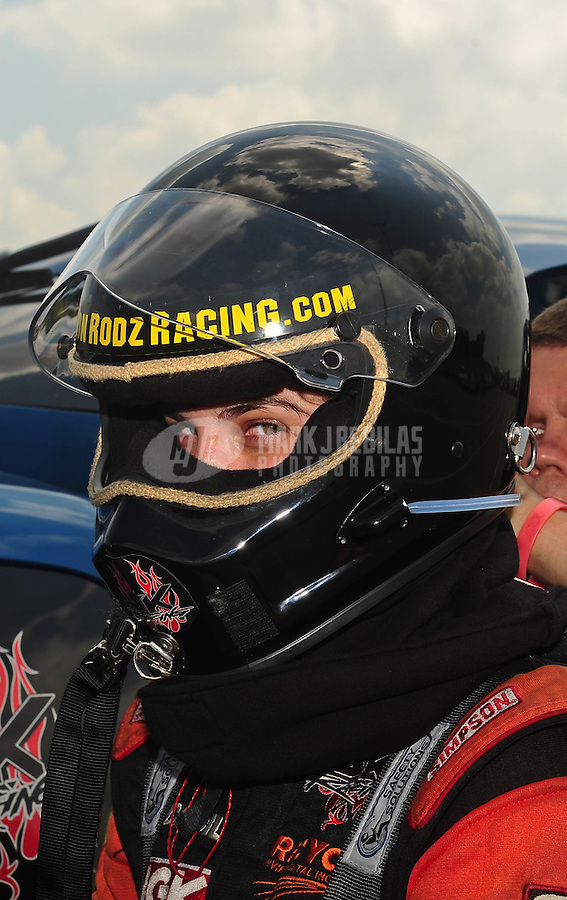 Jul, 10, 2011; Joliet, IL, USA: NHRA top alcohol funny car driver Cassie Simonton during the Route 66 Nationals at Route 66 Raceway. Mandatory Credit: Mark J. Rebilas-