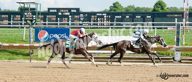 Waytogo Trish winning at Delaware Park on 8/21/13