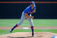 Florida Gators starting pitcher Karsten Whitson #22 delivers a pitch during a game against the Tennessee Volunteers at Lindsey Nelson Stadium, Knoxville, Tennessee April 14, 2012. The Volunteers won the game 5-4  (Tony Farlow/Four Seam Images)..