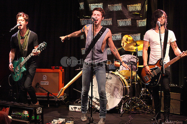 Hot Chelle Rae perform at Q102's Xfinity Performance Theater in Bala Cynwyd, Pa on April 30, 2011  © Star Shooter / mediapunchinc