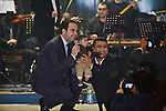 Singer Wael Jassar sings during a ceremony of New Year festivities, in Cairo on January 1, 2015. Photo by Amr Sayed