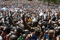 Kenya Repents peace rally. Self-styled prophet David Owuor united 6 of the 8 presidential candidates at Uhuru Park on 24 February 2013; they vowed to renounce violence in the lead up to the historic elections on 4 March, the first since the post-election violence of 2007/08  that left more than 1,200 dead and 600,000 displaced.