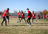 WASHINGTON, DC - NOVEMBER 14, 2012: Players of DC United during a practice session before the second leg of the Eastern Conference Championship at DC United practice field, in Washington, DC on November 14.