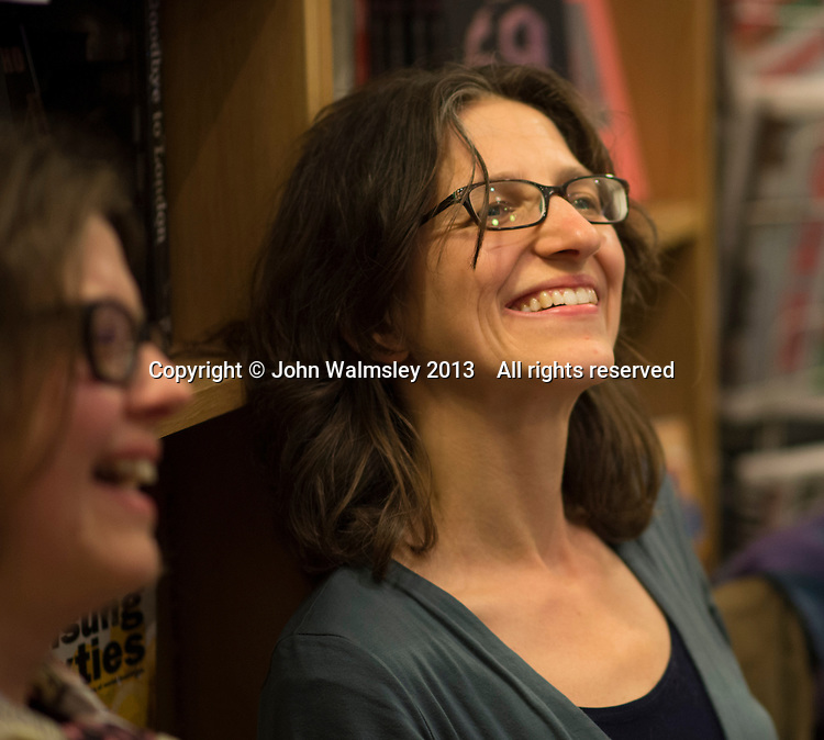 Emily Charkin, Institute of Education, at the event to discuss Leila Berg's contribution to radical education and children's lives, Houseman's bookshop, London, 22nd May 2013.