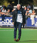 AMSTELVEEN  - coach Hans Oostindie (Pin) , hoofdklasse hockeywedstrijd dames Pinole-Laren (1-3). COPYRIGHT  KOEN SUYK