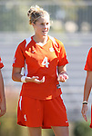 26 October 2008: Clemson's Abby Lambert. The Duke University Blue Devils defeated the Clemson University Tigers 6-0 at Koskinen Stadium in Durham, North Carolina in an NCAA Division I Women's college soccer game.