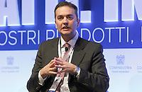 Filippo Taddei  PD,  durante il XXIX convegno di Capri per Napoli   dei  Giovani Industriali a Citta della Scienza , 25 Ottobre 2014