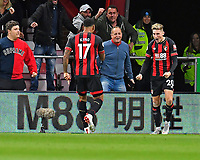 David Brooks of AFC Bournemouth right celebrates his goal with Joshua King of AFC Bournemouth during AFC Bournemouth vs Crystal Palace, Premier League Football at the Vitality Stadium on 1st October 2018