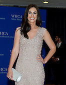Ashley Spillane arrives for the 2015 White House Correspondents Association Annual Dinner at the Washington Hilton Hotel on Saturday, April 25, 2015.<br /> Credit: Ron Sachs / CNP