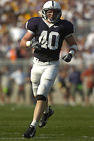06 October 2007:  Penn State LB Dan Connor (40) had 9 tackles and one sack.  The Penn State Nittany Lions defeated the Iowa Hawkeyes 27-7 October 6, 2007 at Beaver Stadium in State College, PA..