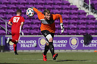 Orlando, Florida - Wednesday January 17, 2018: Jeff Caldwell. Match Day 3 of the 2018 adidas MLS Player Combine was held Orlando City Stadium.