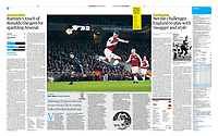 The Guardian - 06-Apr-2018 - 'Aaron Ramsey scores Arsenal's third goal with a briliant piece of improvisation' - Photo by Rob Newell (Camerasport via Getty Images)