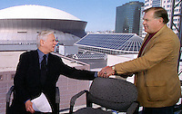 On the set of ESPN's The Sports Reporters in New Orleans for the Super Bowl, Dick Schaap gives Jerry Kramer the news that the Pro Football Hall of Fame has once again passed him over for induction. Schaap and Kramer collaborated on four books including Instant Replay which has been called the greatest football book ever written. Dick died in 2001.