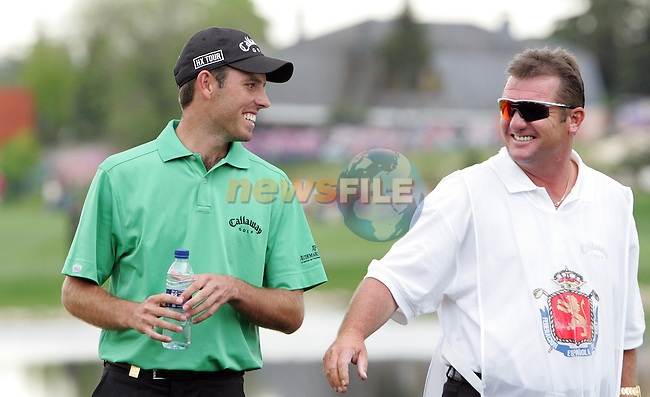 Charl Schwartzel celebrates after eagling the 16th hole in the final round of the Open de Espana in Madrid..Photo NEWSFILE/Manus O'Reilly.(Photo credit should read Manus O'Reilly/NEWSFILE)....This Picture has been sent you under the condtions enclosed by:.Newsfile Ltd..The Studio,.Millmount Abbey,.Drogheda,.Co Meath..Ireland..Tel: +353(0)41-9871240.Fax: +353(0)41-9871260.GSM: +353(0)86-2500958.email: pictures@newsfile.ie.www.newsfile.ie.FTP: 193.120.102.198..