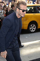 www.acepixs.com<br /> September 10, 2017 New York City<br /> <br /> David Beckham was seen going to Balthazar in New York City on September 10, 2017.<br /> <br /> Credit: Kristin Callahan/ACE Pictures<br /> <br /> Tel: 646 769 0430<br /> Email: info@acepixs.com