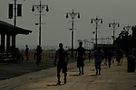 People visit the Coney island beach in Brokling during The first day of summer as Heat Wave Strikes New York City in New York June 20, 2012.  Temperatures reached near 100 degrees. Photo by Kena Betancur / VIEWpress..
