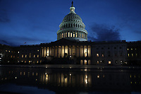 Exterior of the United States Capitol prior to US President Donald J. Trump arriving to deliver his second annual State of the Union Address to a joint session of the US Congress in the US Capitol in Washington, DC on Tuesday, February 5, 2019. Photo Credit: Alex Edelman/CNP/AdMedia