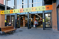 Main entrance to the Jean Talon Market, Montreal, Quebec, Canada