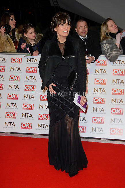 WWW.ACEPIXS.COM<br /> <br /> January 20 2015, London<br /> <br /> Davina McCall attends the National Television Awards at the O2 Arena on January 21 2015 in London<br /> <br /> <br /> By Line: Famous/ACE Pictures<br /> <br /> <br /> ACE Pictures, Inc.<br /> tel: 646 769 0430<br /> Email: info@acepixs.com<br /> www.acepixs.com