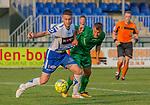 2018-07-04 / Voetbal / seizoen 2018 -2019 / KSK Heist - Lommel SK / Thomas Englebert (l.KSK Heist) met Geert Berben ,Foto: Mpics.be