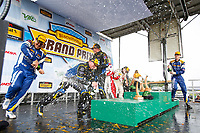 ST Podium, #52 MINI JCW Team, MINI JCW, ST: Mark Pombo, Colin Mullan, #21 Bodymotion Racing, Porsche Cayman, ST: Max Faulkner, Jason Rabe, #81 BimmerWorld Racing, BMW 328i, ST: Nick Galante, Devin Jones, Champagne