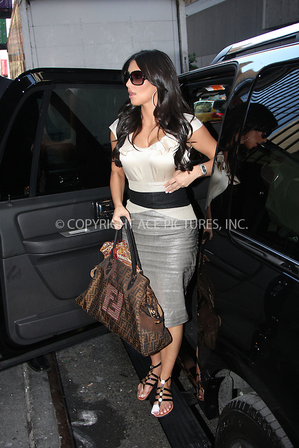 WWW.ACEPIXS.COM . . . . .....August 26, 2008. New York City.....TV personality Kim Kardashian arrives the TRL MTV Studios on August 26, 2008 in New York City...  ....Please byline: Stan Rose- ACEPIXS.COM..... *** ***..Ace Pictures, Inc:  ..Philip Vaughan (646) 769 0430..e-mail: info@acepixs.com..web: http://www.acepixs.com