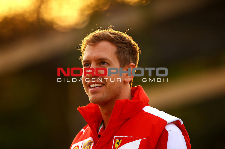 12.04.2015, Shanghai-International-Circuit, Schanghai, CHN, Gro&szlig;er Preis von China / Schanghai 2015, im Bild  Sebastian Vettel (GER), Scuderia Ferrari<br /> for the complete Middle East, Austria &amp; Germany Media usage only!<br />  Foto &copy; nph / Mathis