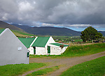 County Kerry, Ireland:<br /> Stone cottage with green roof on the Ring of Kerry, Dingle Peninsula