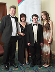 Mayor Michael O'Dowd with his wife Audrey, daughter Niamhín and son Conor at the Special Olympics Gala Ball in The Boyne Valley Hotel...Photo NEWSFILE/Jenny Matthews.(Photo credit should read Jenny Matthews/NEWSFILE)....This Picture has been sent you under the condtions enclosed by:.Newsfile Ltd..The Studio,.Millmount Abbey,.Drogheda,.Co Meath..Ireland..Tel: +353(0)41-9871240.Fax: +353(0)41-9871260.GSM: +353(0)86-2500958.email: pictures@newsfile.ie.www.newsfile.ie.FTP: 193.120.102.198.