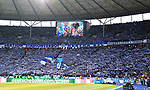 19.01.2020, OLympiastadion, Berlin, GER, DFL, 1.FBL, Hertha BSC VS. Bayern Muenchen, <br /> DFL  regulations prohibit any use of photographs as image sequences and/or quasi-video<br /> im Bild Hertha-Fankurve<br /> <br />       <br /> Foto © nordphoto / Engler