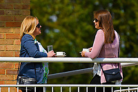Racegoers enjoying refreshments between races during Afternoon Racing at Salisbury Racecourse on 16th May 2019