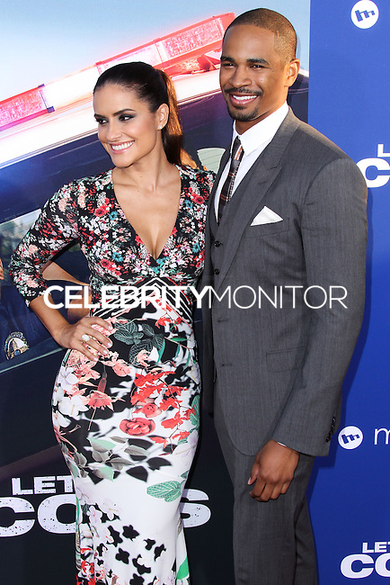 """HOLLYWOOD, LOS ANGELES, CA, USA - AUGUST 07: Samara Saraiva, Damon Wayans Jr. at the Los Angeles Premiere Of 20th Century Fox's """"Let's Be Cops"""" held at ArcLight Cinemas Cinerama Dome on August 7, 2014 in Hollywood, Los Angeles, California, United States. (Photo by Xavier Collin/Celebrity Monitor)"""