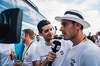 Picture by Russell Ellis/russellis.co.uk/SWpix.com - image archived on 25/04/2019 Cycling Tour de France 2018 - Team Sky at the Tour de France - STAGE 21: HOUILLES - PARIS Champs-Elysées 29/07/2018<br /> - Wout Poels