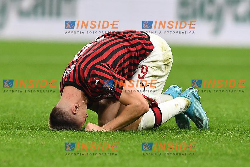 Krzysztof Piatek of AC Milan dejection <br /> Milano 29/09/2019 Stadio Giuseppe Meazza <br /> Football Serie A 2019/2020 <br /> AC Milan - ACF Fiorentina   <br /> Photo Image Sport / Insidefoto