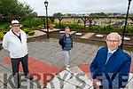 Billy Locke (front left) with Olga Taranta-Sova and Danny Lawlor at Rath Graveyard on Monday.