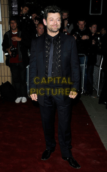 ANDY SERKIS .Attends the 'Burke and Hare' World Premiere at The Chelsea Cinema, Kings Road, Chelsea, London, England, UK, 25th October 2010..full length suit black shirt tie.CAP/CAN.©Can Nguyen/Capital Pictures.