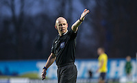 Referee Nick Kinseley during the Sky Bet League 2 match between Oxford United and Bristol Rovers at the Kassam Stadium, Oxford, England on 17 January 2016. Photo by Andy Rowland / PRiME Media Images.