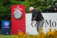 Johan Edfors tees off on the 18th tee during the Final Round of the 3 Irish Open on 17th May 2009 (Photo by Eoin Clarke/GOLFFILE)